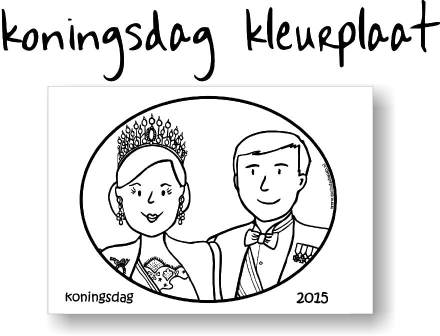 gratis download koningsdag kleurplaat | dorindadesign