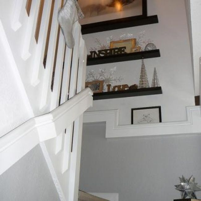 Suspended Style 32 Floating Staircase Ideas For The: Floating Shelves On Stairway Landing {Stairs}