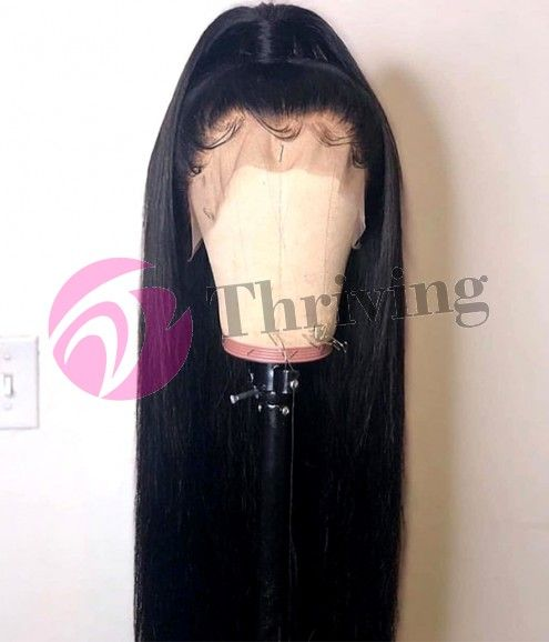 Thriving Hair Virgin Human Hair Brazilian Silky Straight Pre-Plucked Full Lace Wigs [V2-FULL] #lacewigs