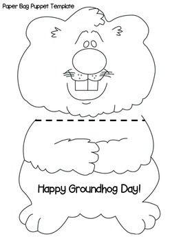 Groundhog Day Craft Activity Groundhog Day Activities Paper Bag