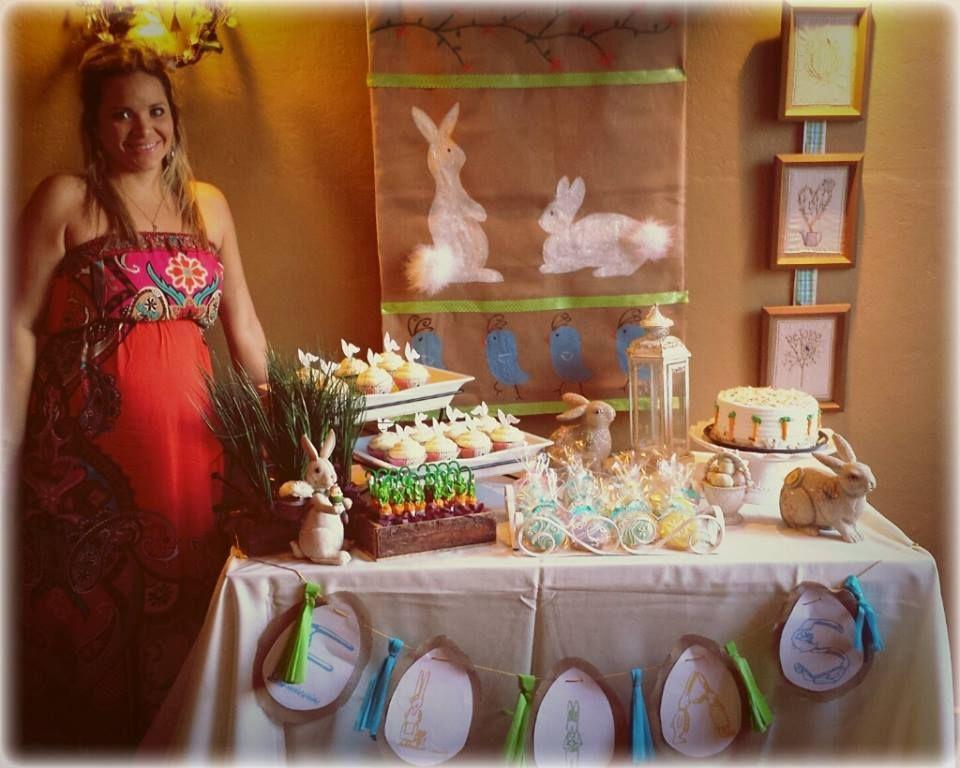 Mesa Baby shower conejos Bunnies Boy Niño Dessert Table