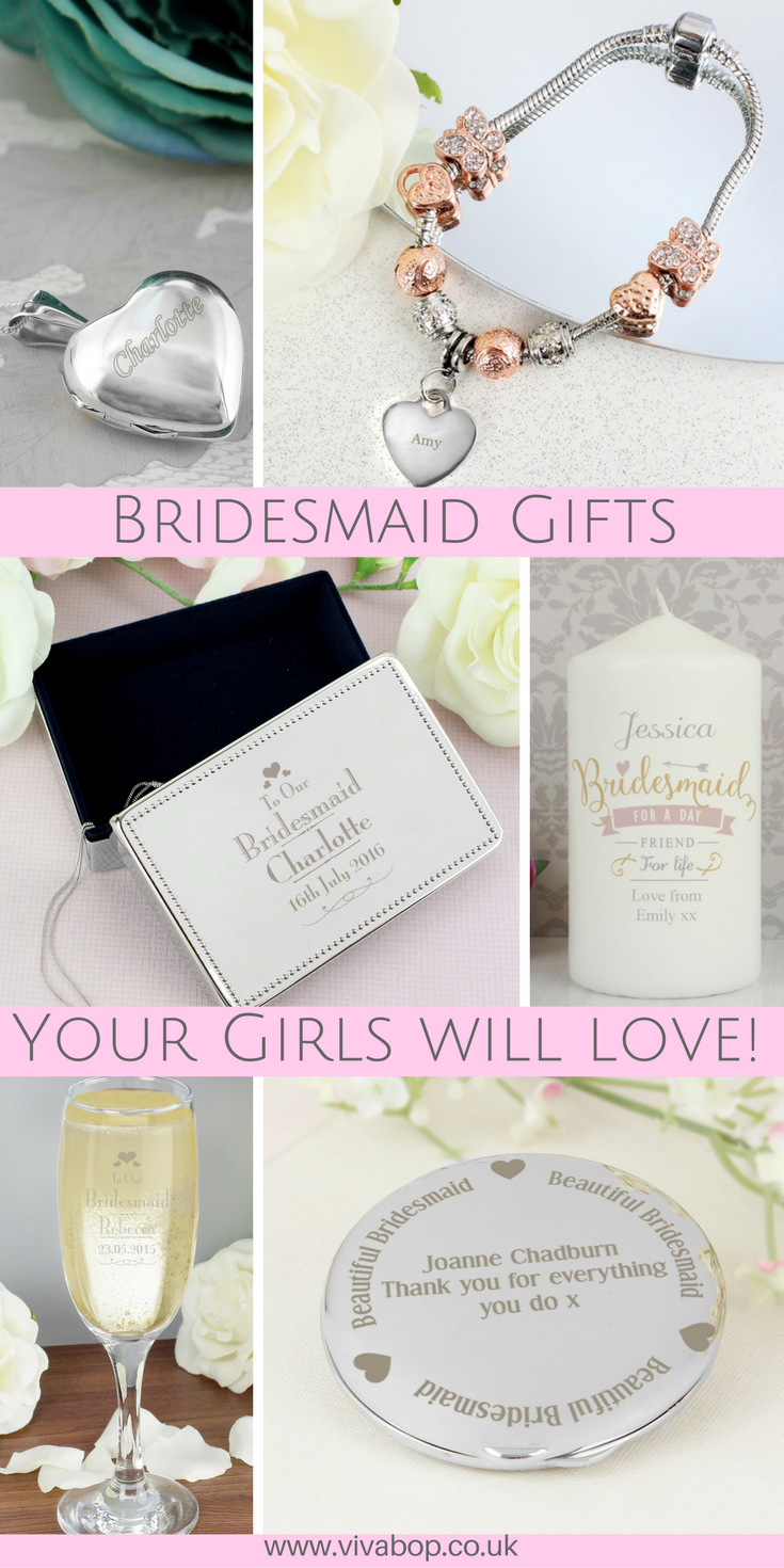 Bridesmaid Gifts Your Girls Will Love! | Personalised Bridesmaid ...