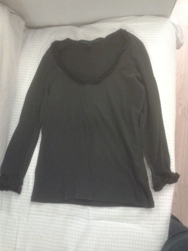 3b00d08506dbf8 Boden Ladies size M black used cotton velvet trim blouse #fashion #clothing  #shoes #accessories #womensclothing #tops (ebay link)