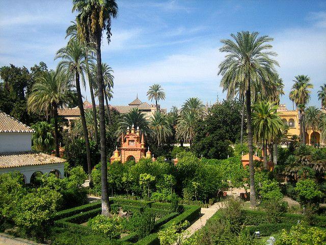 The Alcázar garden in Sevilla, Spain