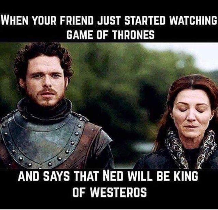 Game Of Thrones Funny Humour Meme Ned Stark Robb Stark