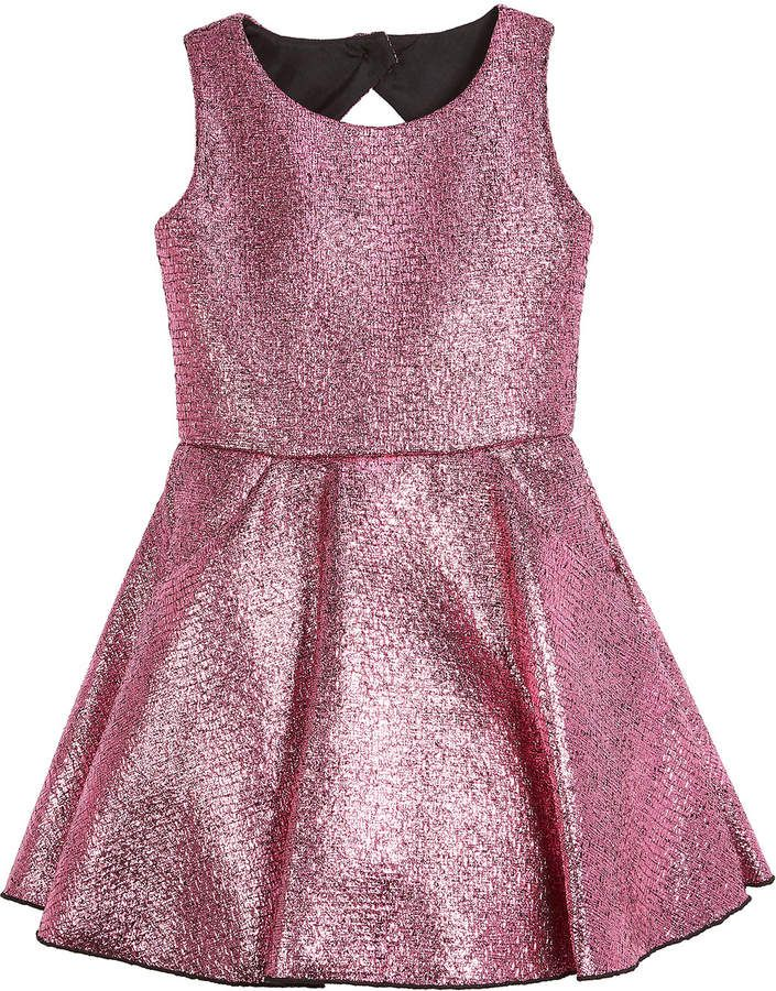 6ea92120490d Sara Metallic Foil Keyhole-Back Dress Size 7-16 in 2019 | Products ...