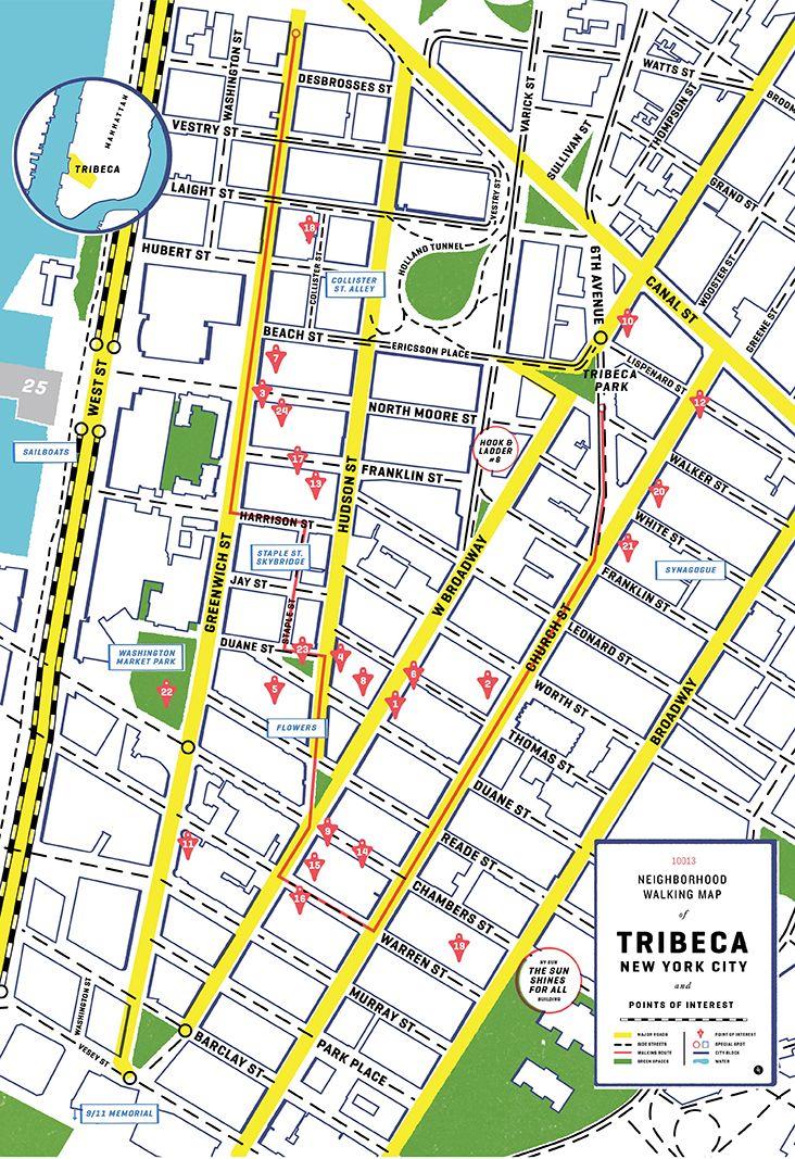 Jack Erwin + Wildsam NYC Walking Map - Tribeca - SDCO Partners ...