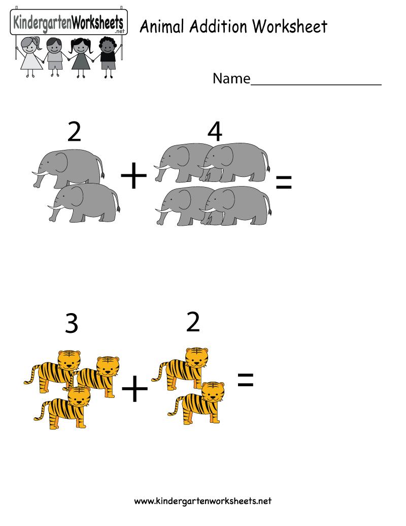 This Is An Animal Addition Worksheet For Kindergarteners You Can Download Pr Kindergarten Math Worksheets Free Kids Math Worksheets Kids Worksheets Preschool [ 1035 x 800 Pixel ]