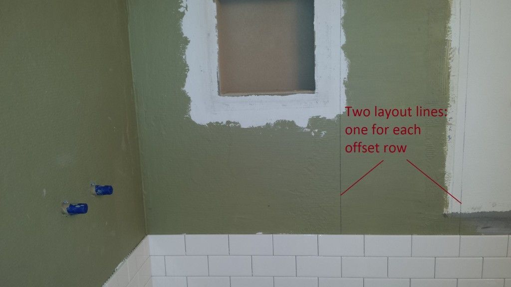 subway tile layout lines   Home deco   Pinterest   Tile installation ...