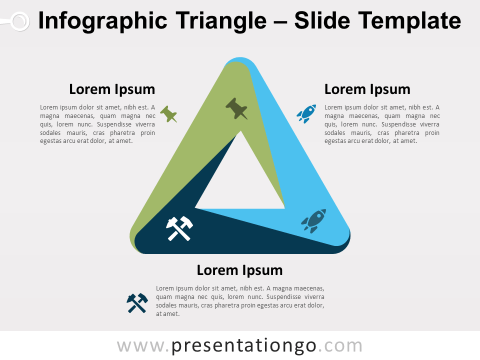 Infographic Penrose Triangle For Powerpoint And Google Slides Infographic Powerpoint Data Visualization
