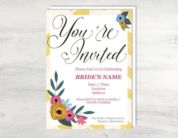 Bridal Shower Invitation Template, Bridal Shower Template - invitation word template