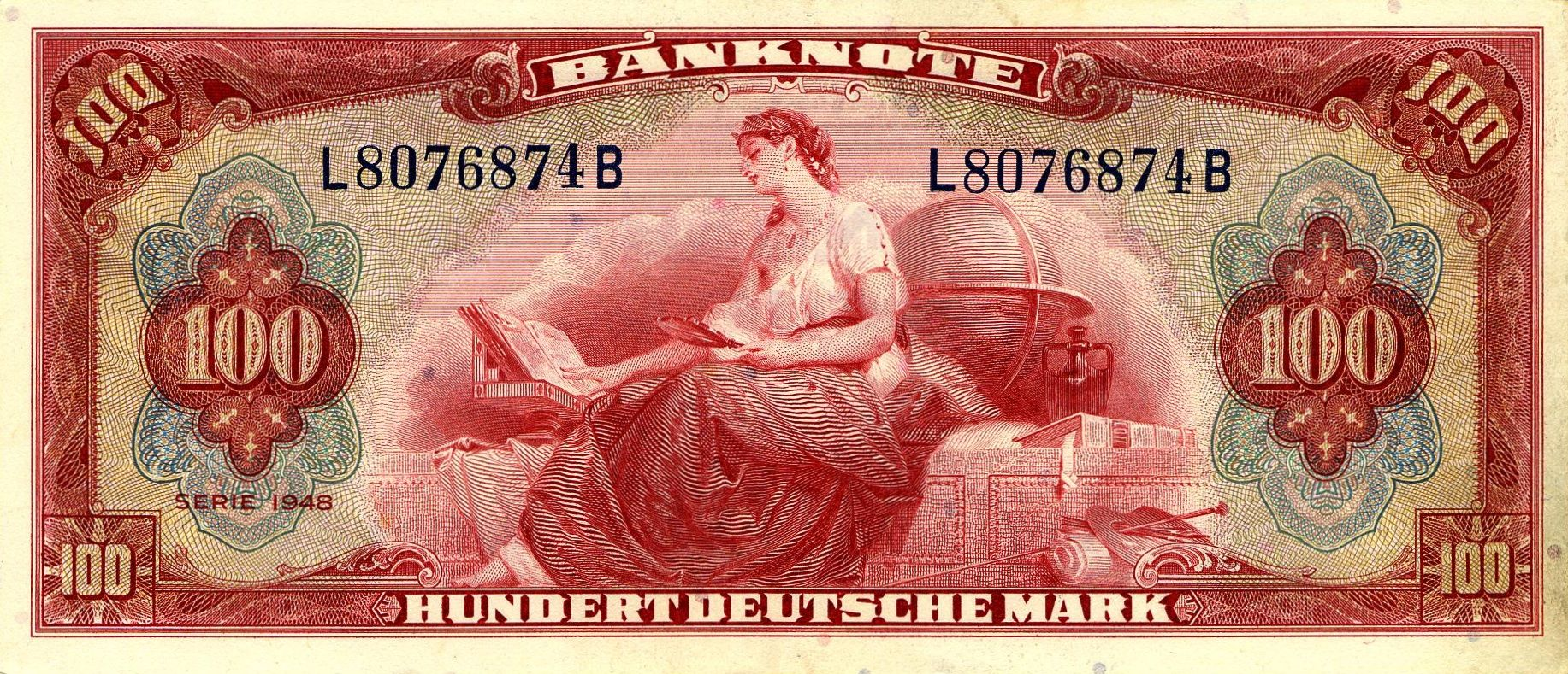 "red banknotes ""Google"" paieška Bank notes, German"