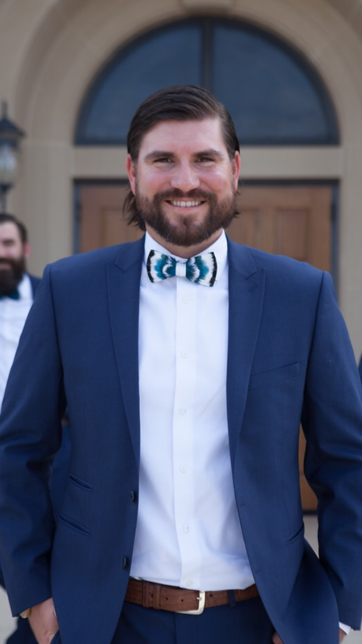 Charleston Sc Wedding Custom Brackish Bow Tie Blue Suits Blue Suit Wedding Blue Suit Suits