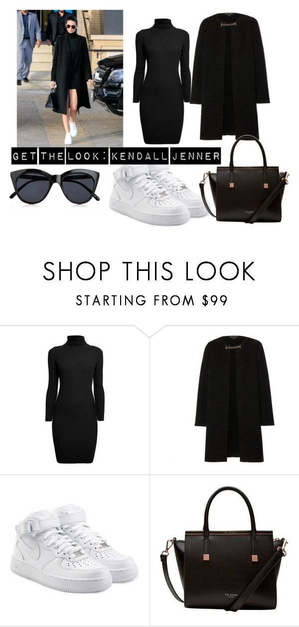 """get the look: kendall jenner"" by bbabesx4lifeofficial on Polyvore featuring mode, Rumour London, Burberry, NIKE, Ted Baker en Le Specs"
