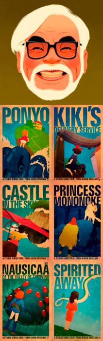 Hayao Miyazaki -  the amazing Studio Ghibli collection. Stunning storylines and excellent animation.