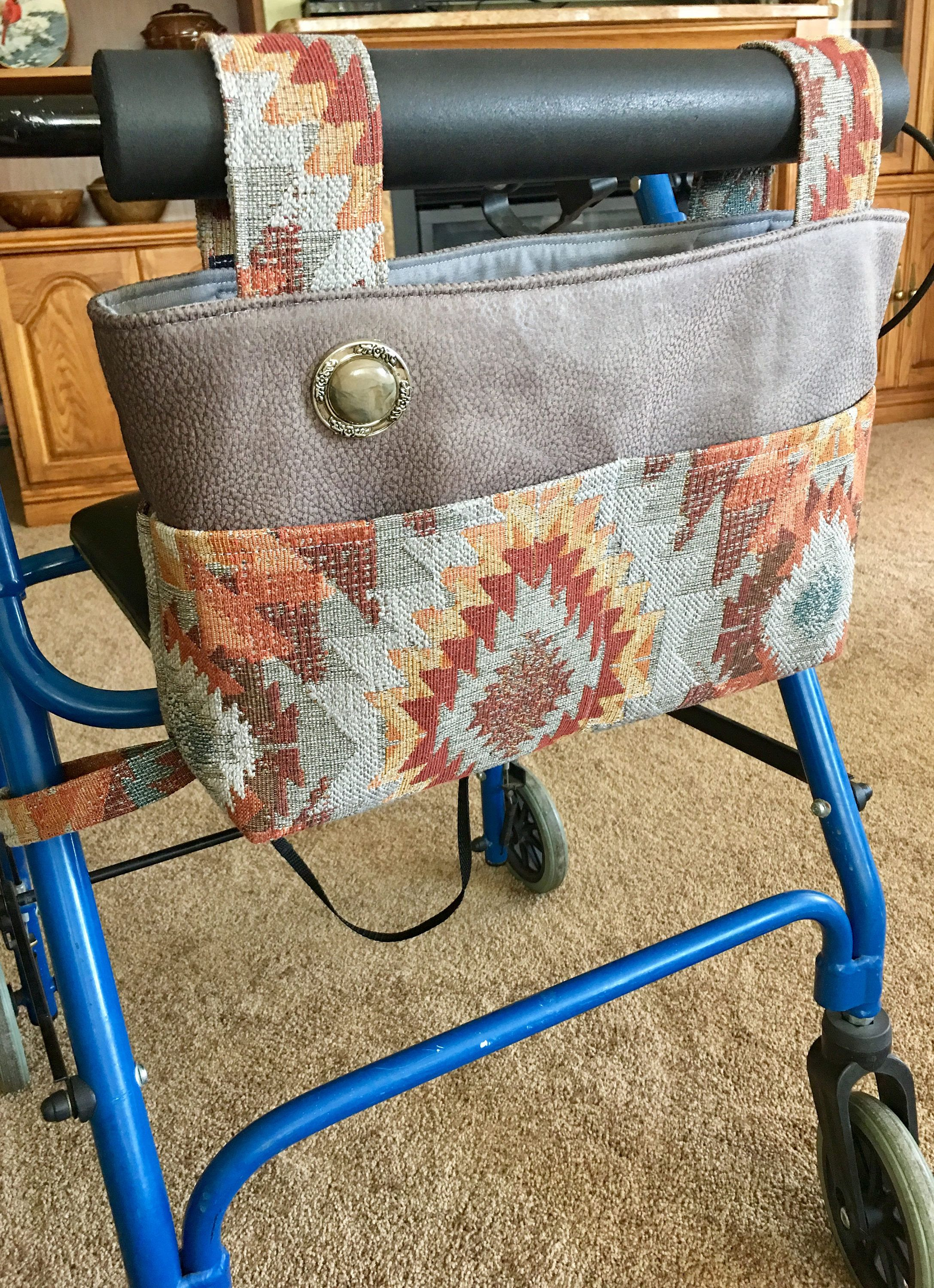 Elegant walker bag, Rollator, mobility accessory, gift for grandma ...