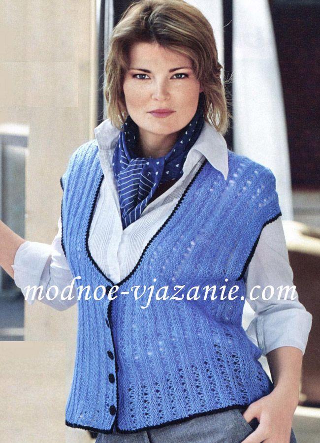 жилеты вязаные спицами для полных женщин Knitting вязание