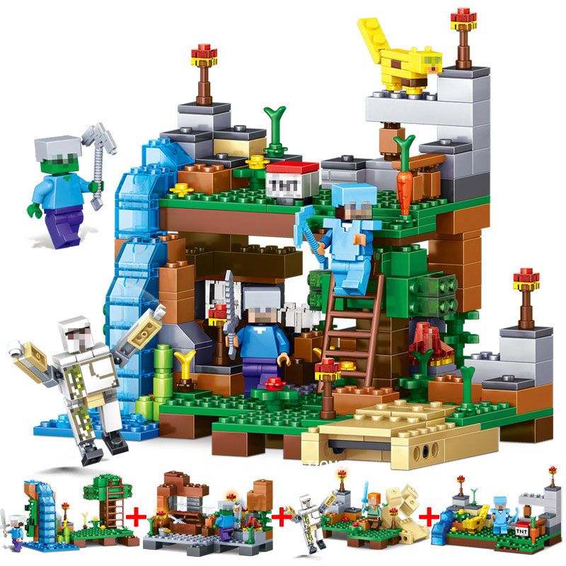 Qunlong Zabawki 4 W 1 Mój świat Minecraft Figurki Building Blocks
