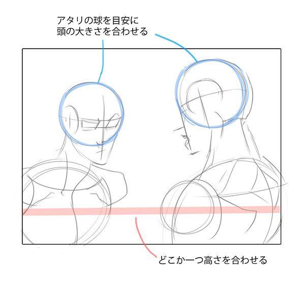 比率のバランスから学ぼう 斜め顔と斜め後ろから見た顔の描き方 いちあっぷ 顔 描き方 描画レッスン 顔のスケッチ