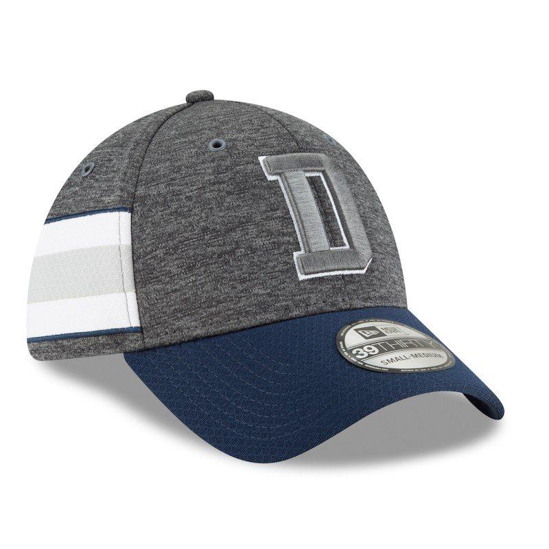 ab0f9fa2f7d6d3 Dallas Cowboys New Era 2018 NFL Sideline Home Graphite 39THIRTY Flex Hat – Heather  Charcoal/Navy