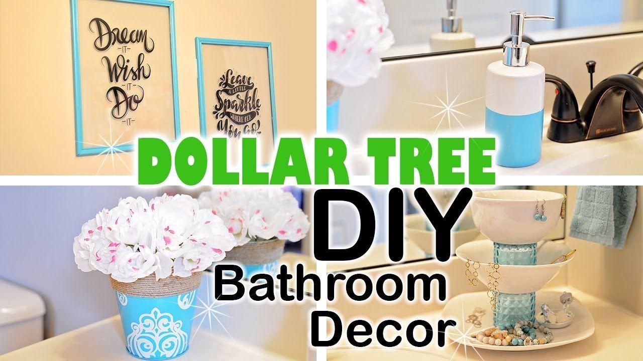 DOLLAR TREE DIY Spring Bathroom Decor  Dollar tree diy, Dollar