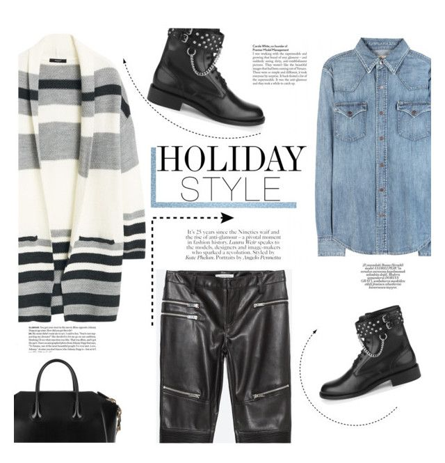 """#302"" by lily1lol ❤ liked on Polyvore featuring Zara, MANGO, Polo Ralph Lauren, Yves Saint Laurent, Kipling, Givenchy and holidaystyle"
