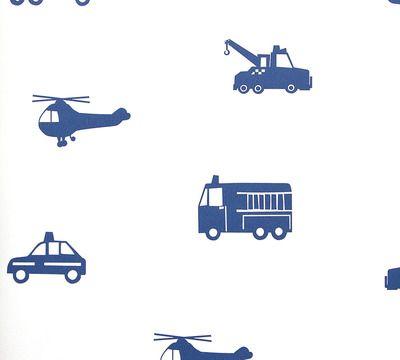 Silueta Vehículos Asistencia. Papel pintado infantil con Vehículos ...