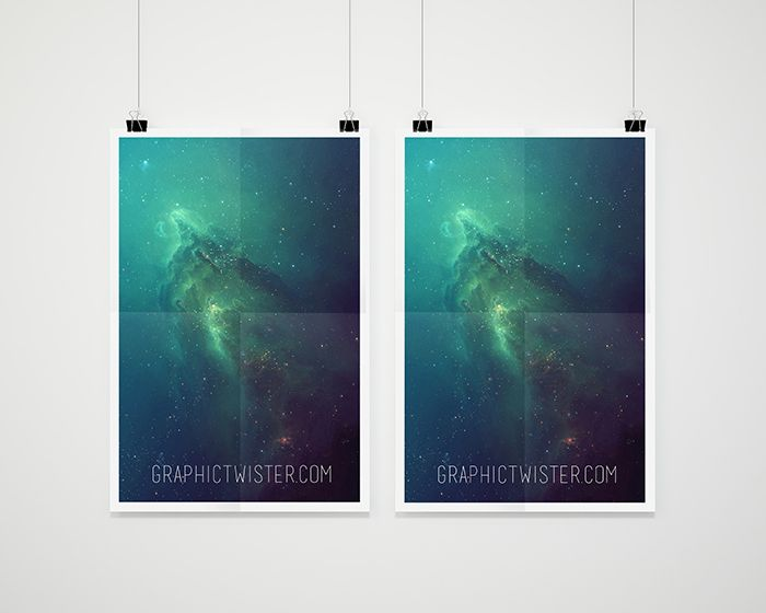 free double poster mockup 22 mb graphic twister presentation