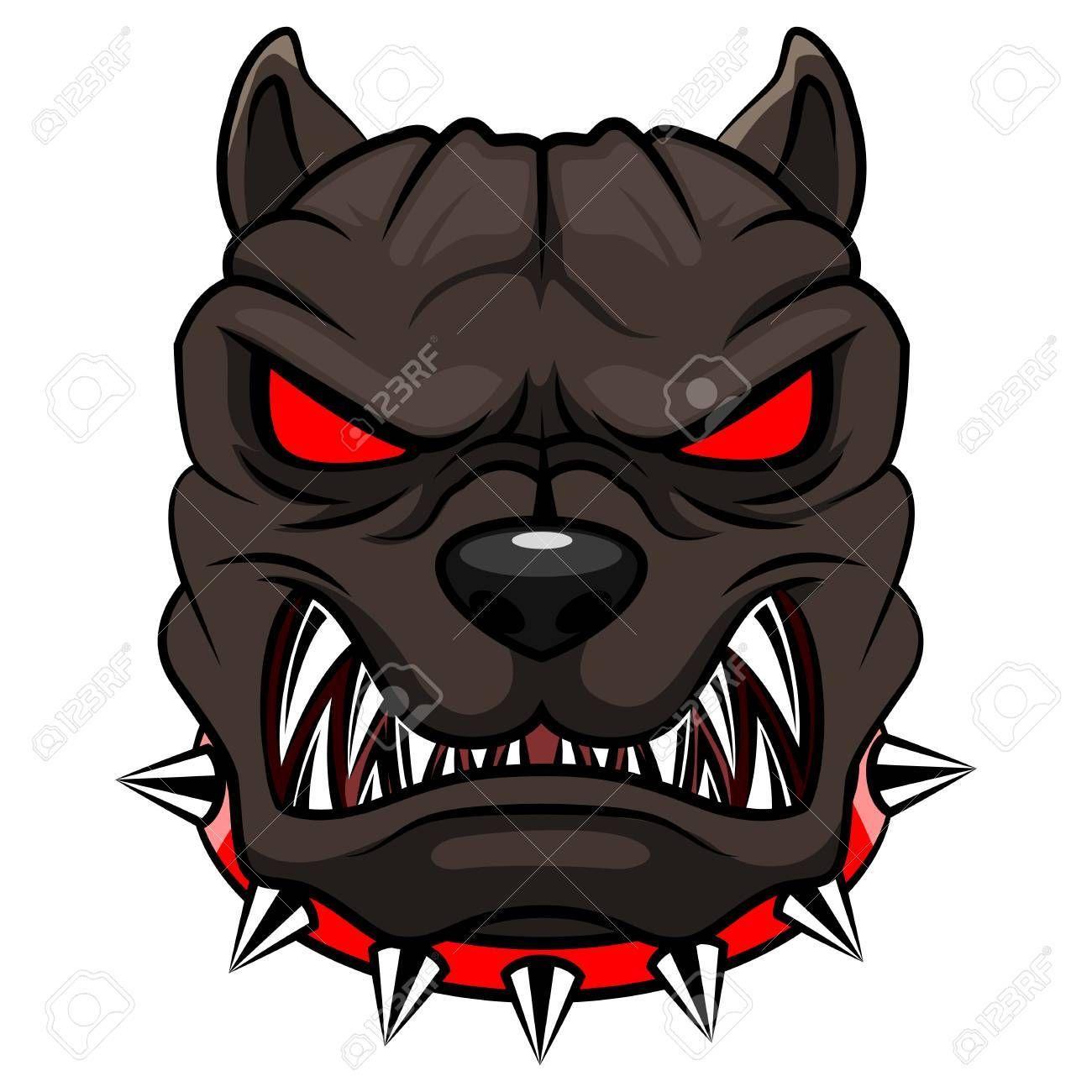 Angry Dog Mascot Cartoon Vector Illustration Affiliate Mascot Dog Angry Illustration Vector Angry Dog Digital Design Trends Mascot