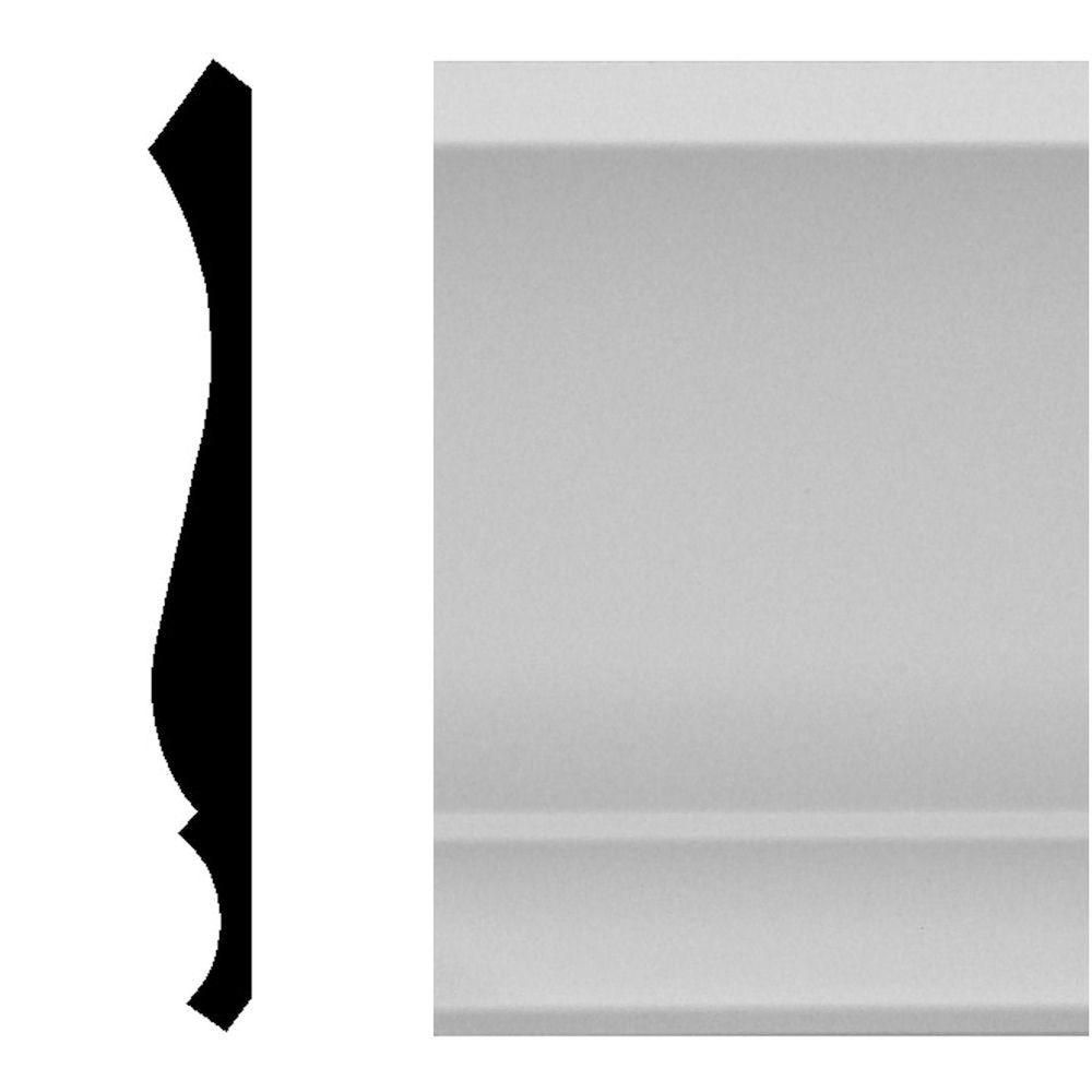 House Of Fara 9 16 In X 5 1 4 In X 96 In Mdf Primed Crown Moulding 8811 Crown Molding House How To Install Beadboard