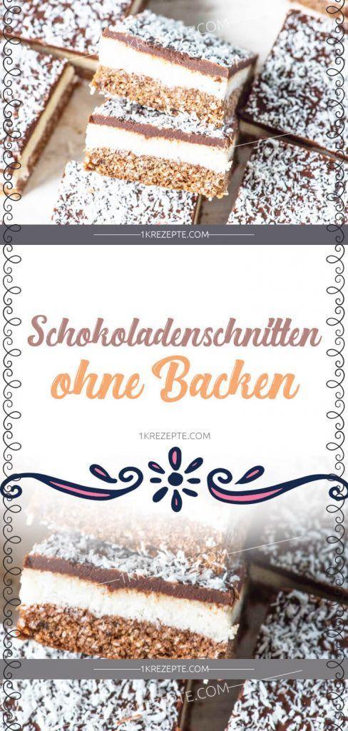 Photo of Schokoladenschnitten Ohne Backen