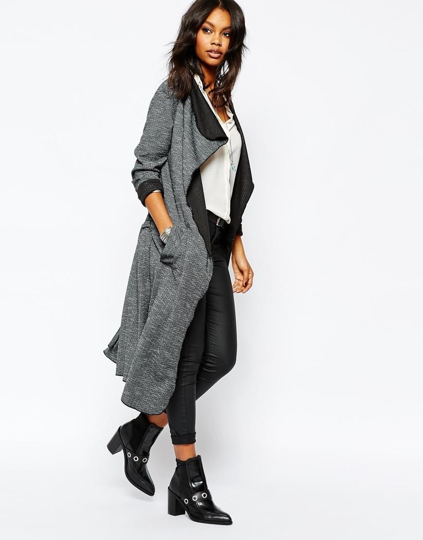 Boohoo | Boohoo Contrast Waterfall Cardigan at ASOS £22 ...