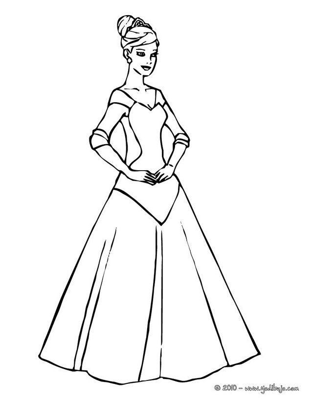 Colorear en línea | CUADROS | Pinterest | Vestido de princesa ...