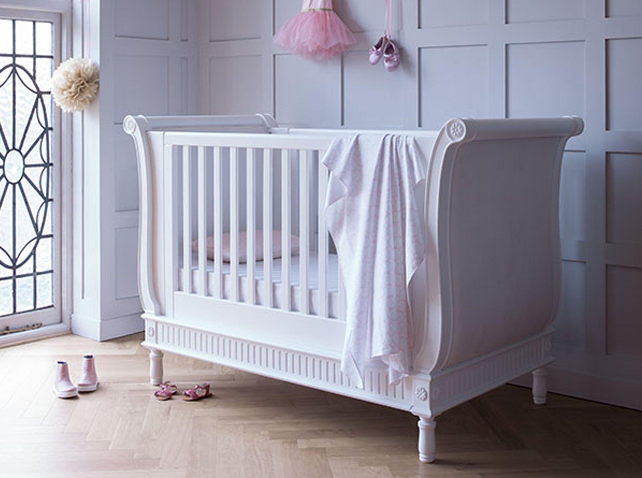 Belle Sleigh Cot Bed Bedding Luxury