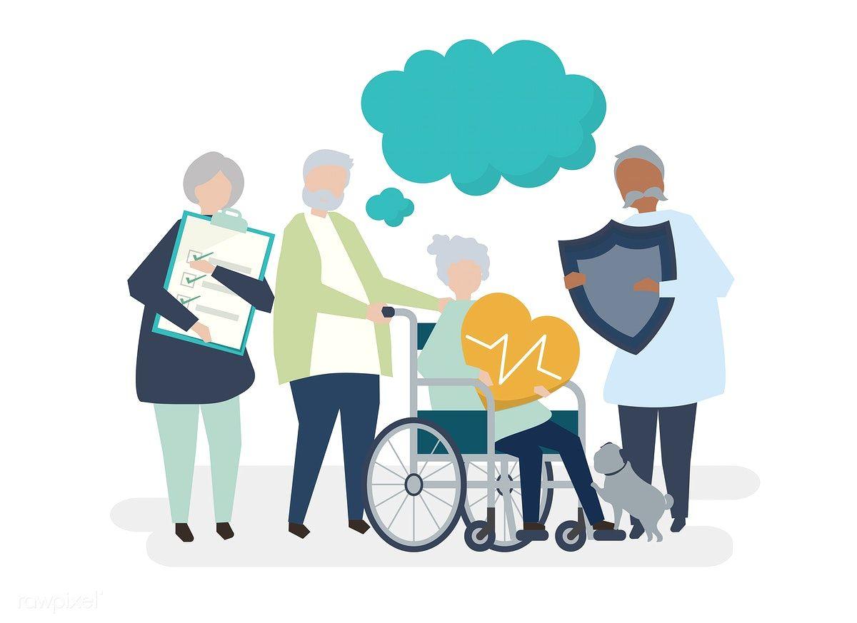 Health care illustration people