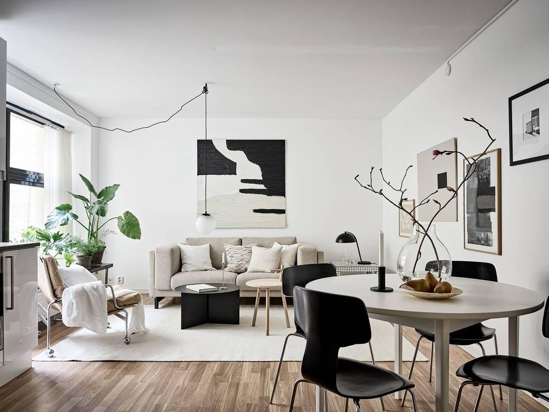 Beige Studio Home With Black Accents Coco Lapine Design Black