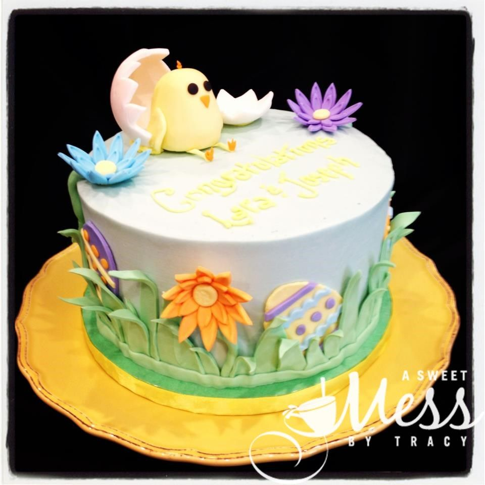 baby chick baby shower cake for easter | baby shower cakes