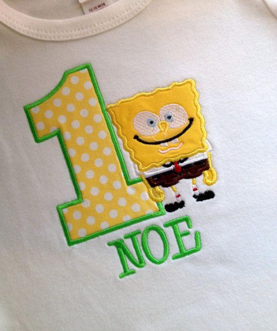 Personalized SpongeBob Birthday Shirt Or Onesie By Grammeshouse 2500