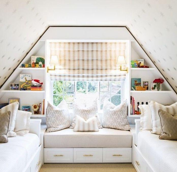 ▷1001+ idées déco de chambre sous pente cocoon | Lit blanc, Deco ...