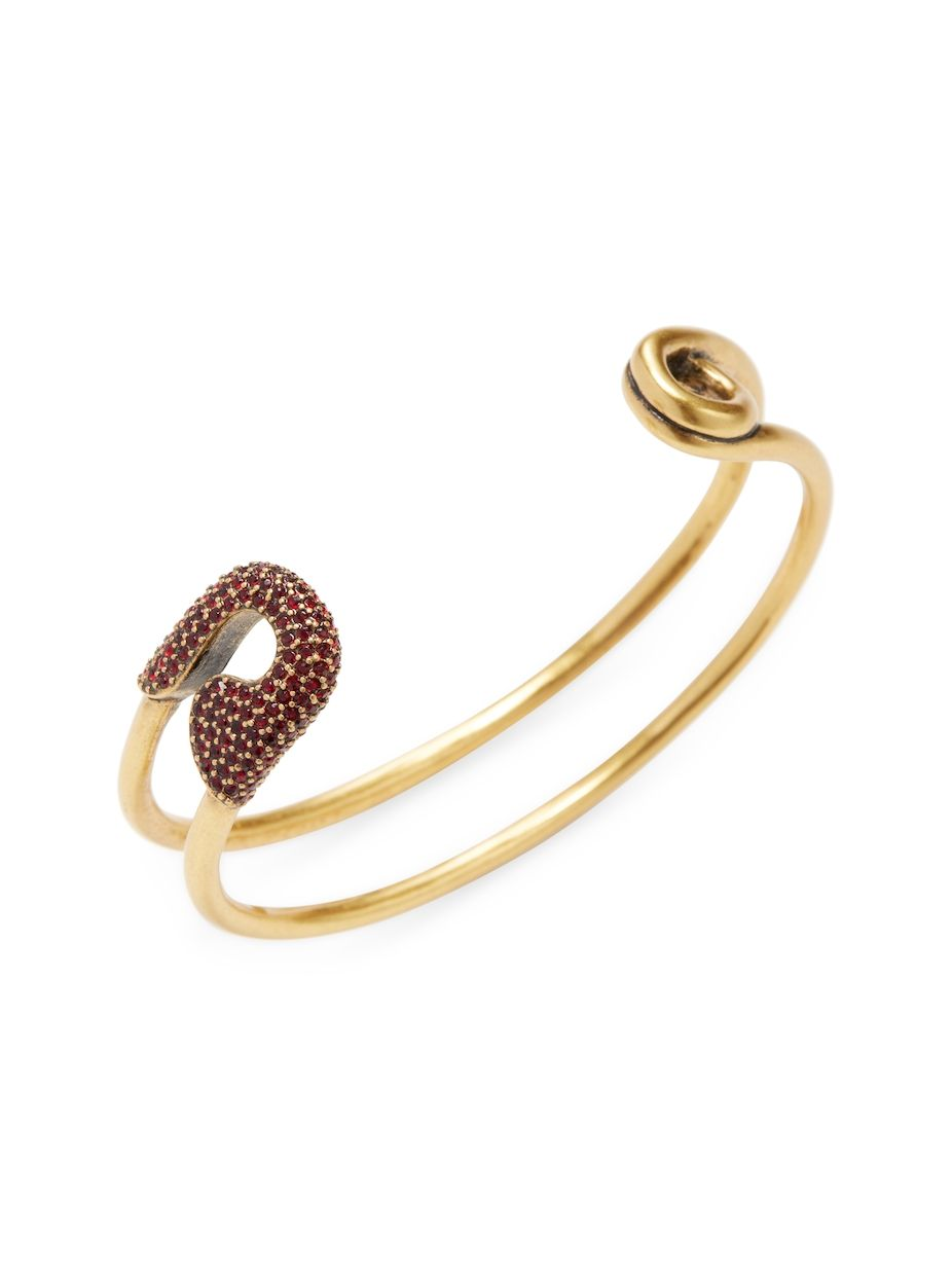 Marc jacobs crystal safety pin cuff bracelet marcjacobs