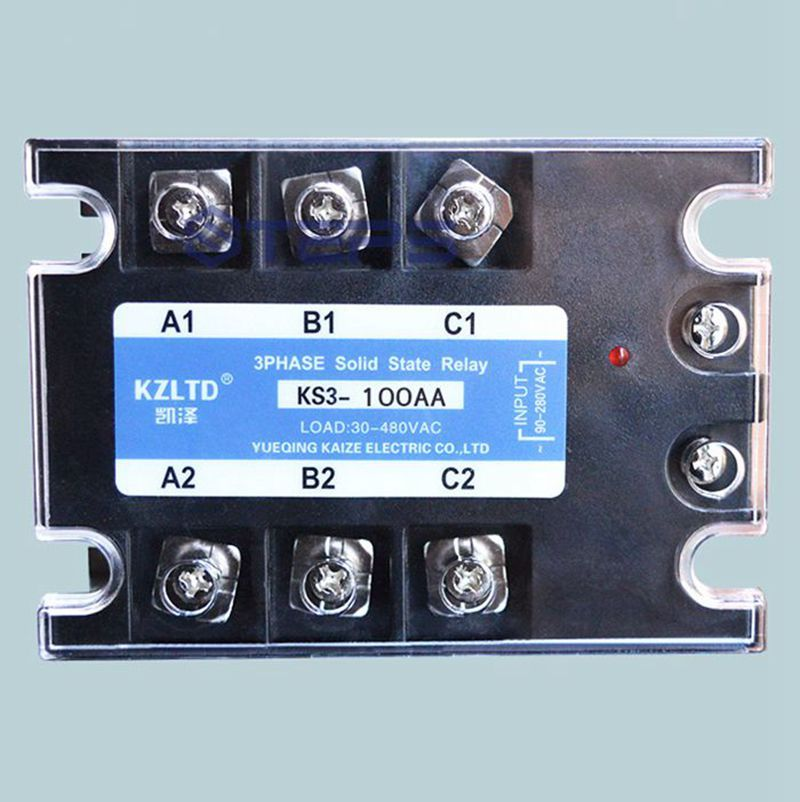 Three Phase Solid State Relay 100a Ac To Ac 380v Explosion Proof Non Contact Solid Contactor Relay Electrical Equipment Cool Things To Buy Electric Co