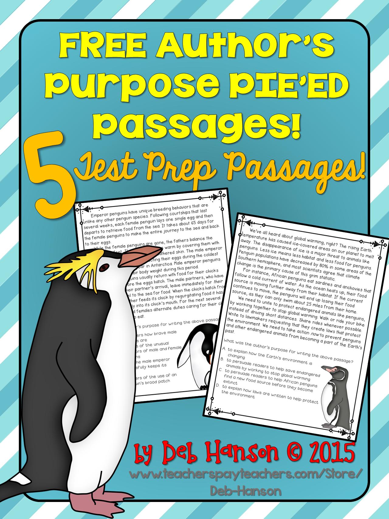Author\'s Purpose PIE\'ED Test Prep Passages... FREE | FREE items ...