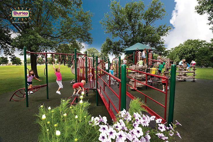 Lakeside Park Inclusive Playground In Fond Du Lac Wisconsin School Playground Equipment Playground Playground Design
