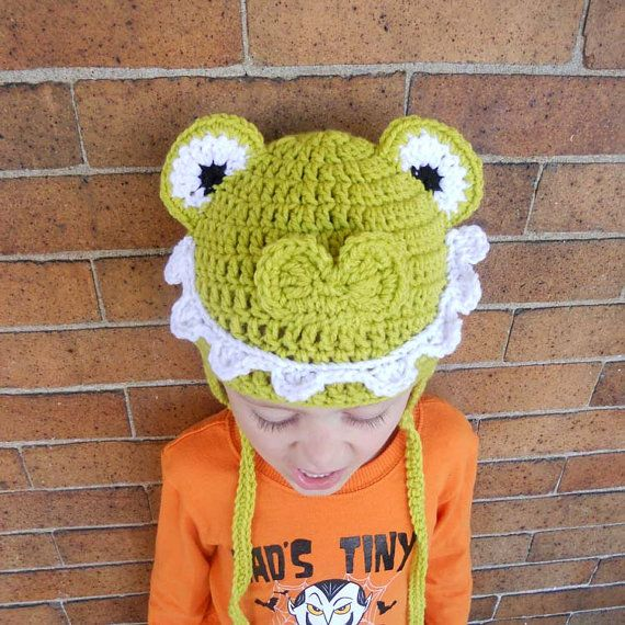 Alligator Crocodile Crochet Earflap Hat Beanie  Kids by JulianBean, $30.00