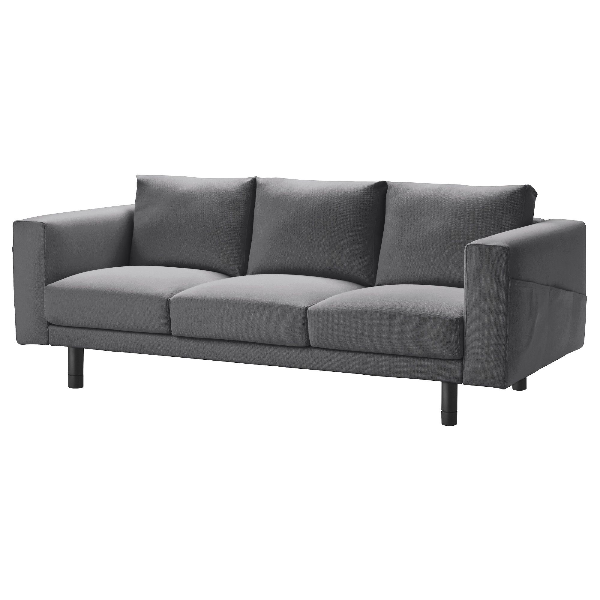 Bettsofa mit bettkasten ikea  NORSBORG Three-seat sofa, Finnsta dark grey, grey | sofa | Pinterest