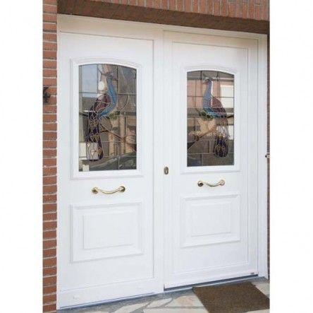 double porte PVC blanc Portes du0027entrée - Quelques-unes de nos - poser porte d entree