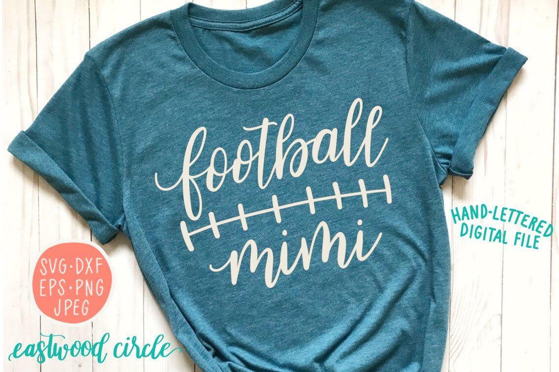 Football mimi svg, Football grandma svg, football SVG