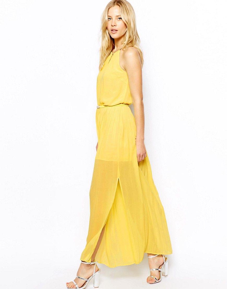 Maxi Dress In Yellow Yellow Maxi Dress Pinterest