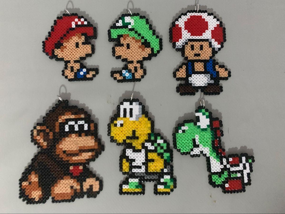 Super Mario Minecraft Aus Bugelperlen Perler