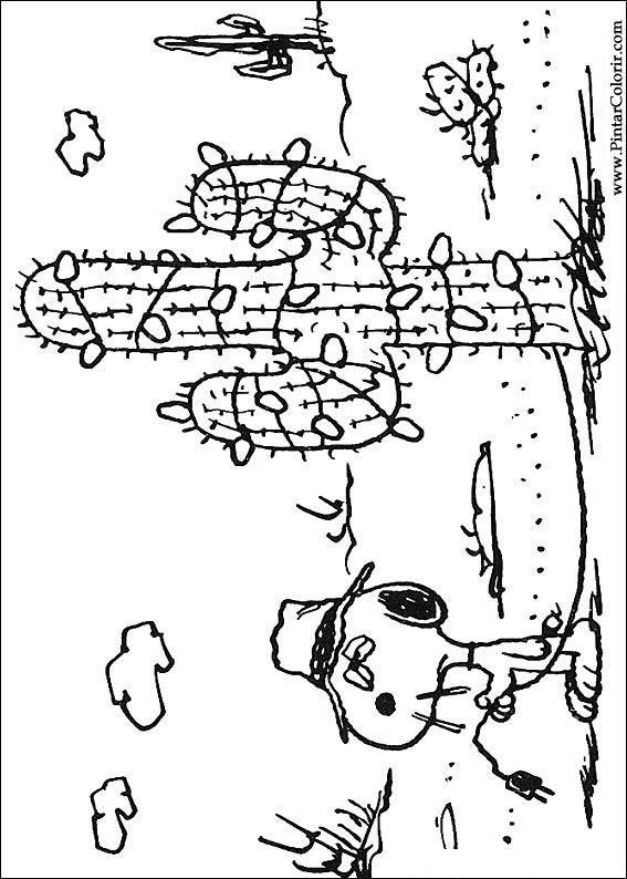 Pintar E Colorir Snoopy Desenho 025 スヌーピー Mandalas と Colorin